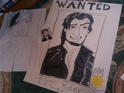 flynn ryder wanted poster