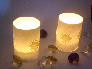 Tangled inspired Rapunzel tea light shades