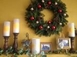 Christmas Mantle with Rapunzel Lanterns