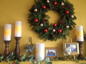 Christmas Mantle with Rapunzel Lanterns