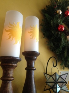 Tangled Rapunzel Style Pillar Shades on Candle Stands