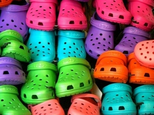 Rainbow colors of crocs...