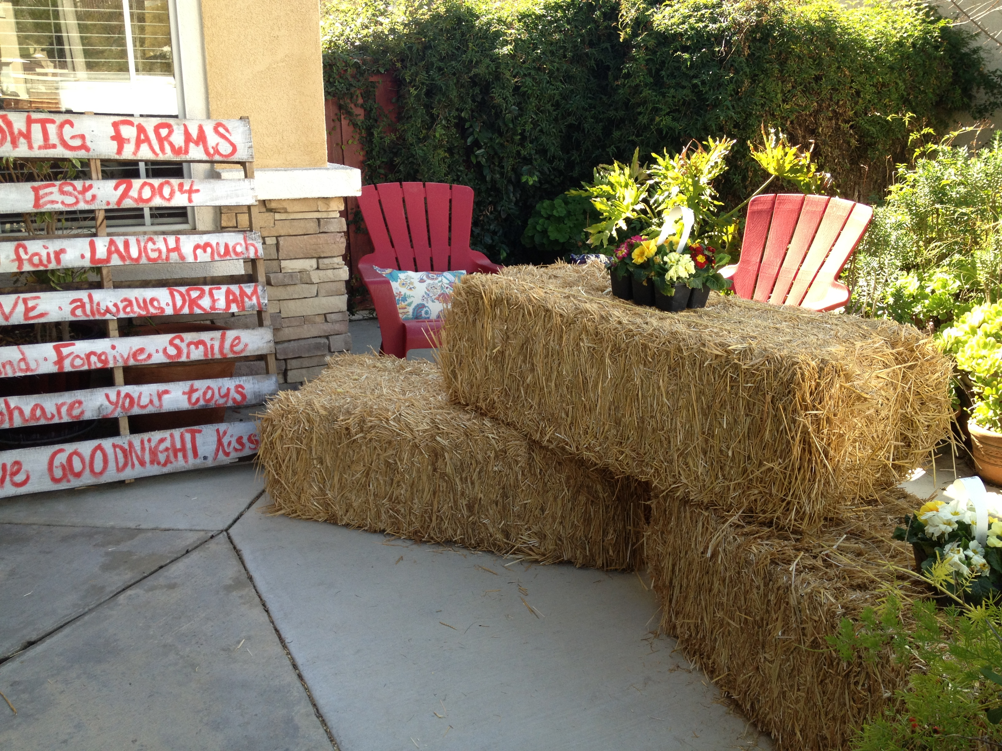 Farm party entrance... with Pallet Family Sign